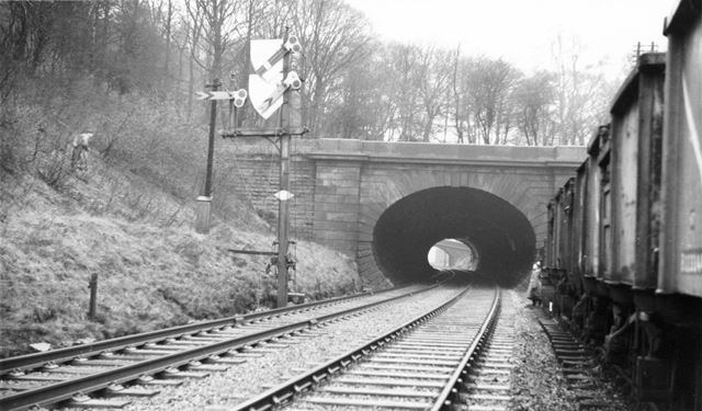 Ambergate or 'Toadmoor' Tunnel on the old North Midland Railway.