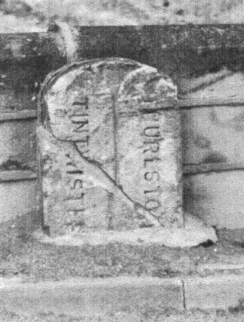 Boundary stone at Salter's Brook Bridge