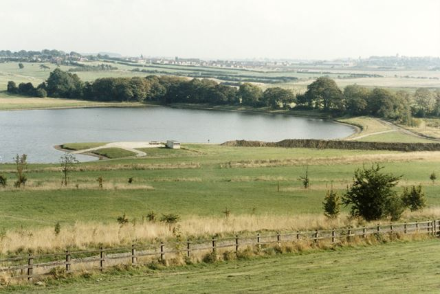 Shipley Lake and the remains of Shipley (Woodside) Colliery
