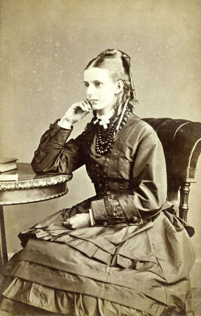 Portrait of a seated unknown young lady