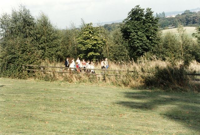 Walkers in Shipley Country Park