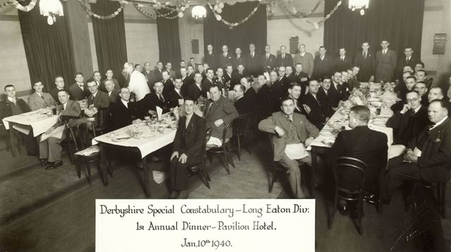 Derbyshire Special Constabulary, Long Eaton Division, first annual dinner at the Pavilion Hotel, 194