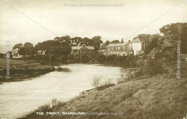 The River Trent, Shardlow, c 1920