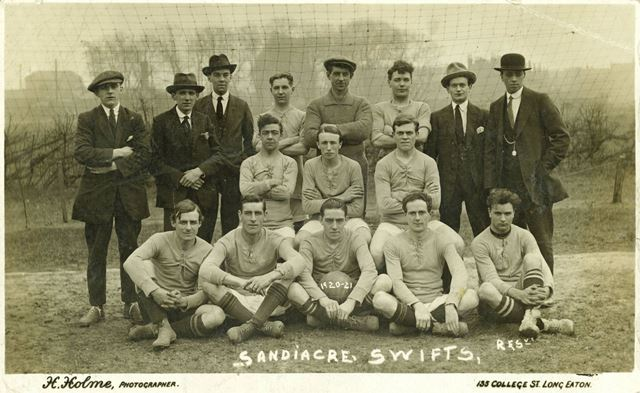 The Sandiacre Swifts football team reserves 1920-1921