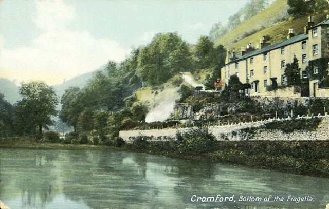 'Bottom of the Fiagella' (Via Gellia), Water Lane, Cromford, c 1908
