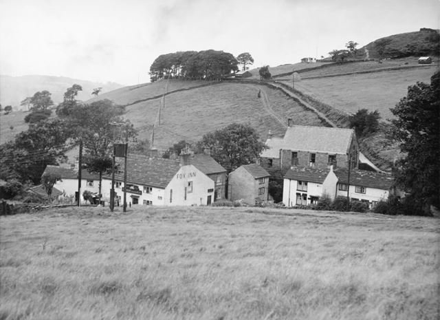 Fox Inn, Brook Bottom, New Mills, 1952