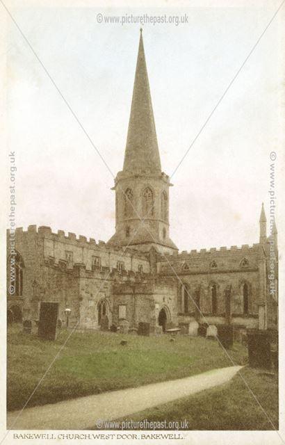 Bakewell Church, West door