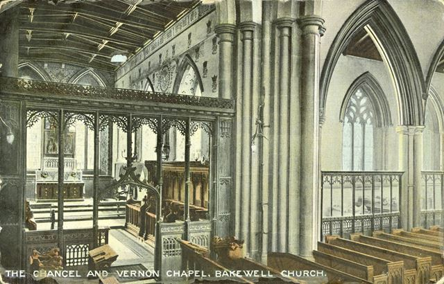 Bakewell Church -the Chancel and Vernon chapel
