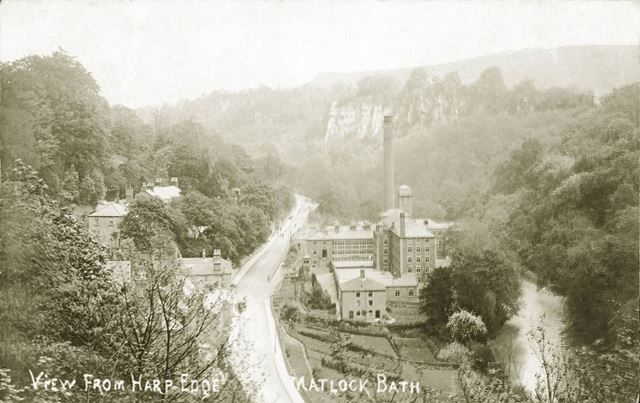 View from Harp Edge showing Masson Mill