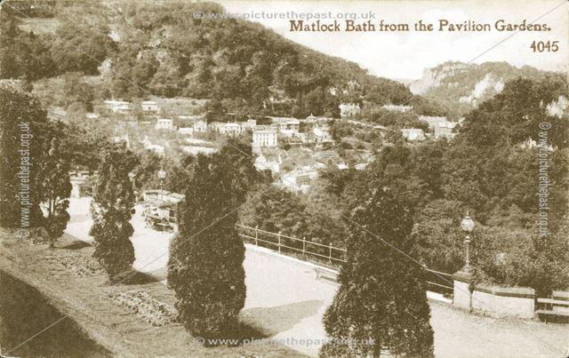 Matlock Bath from Pavilion Gardens