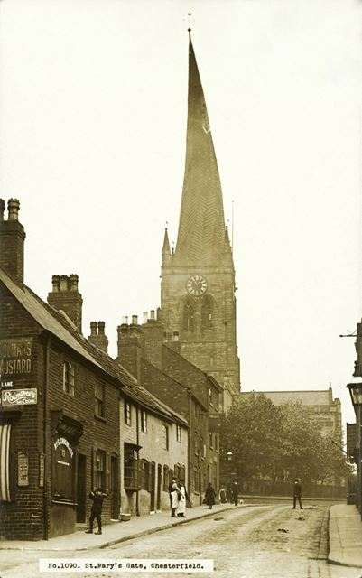 St Mary's Gate and Parish Church (crooked spire)