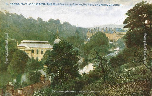 The Kursaal (New Pavilion), Royal Hotel and Church, c 1920 ?