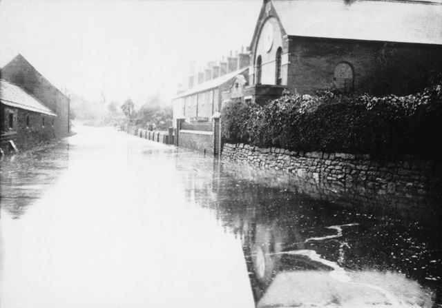 Floods on Dale Road, Stanton By Dale