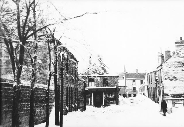 Church Street and Middle Street in the snow, Bolsover