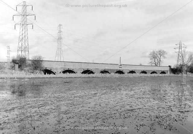 Railway flood arch viaduct