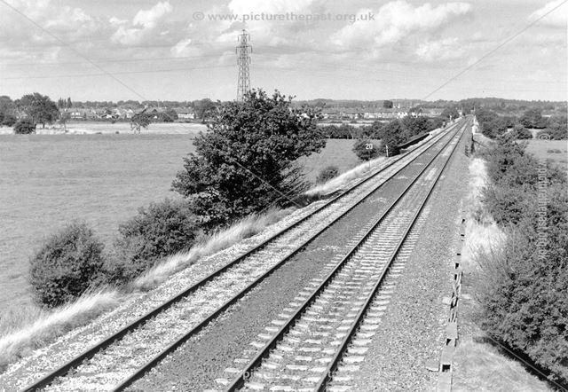 Midland Railway Sheet Stores Line running through Grounds Farm