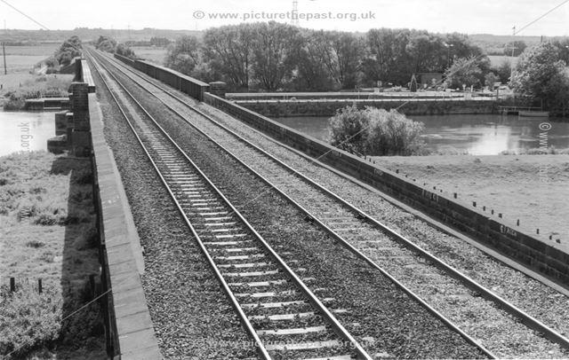 Midland Railway Sawley and Weston Branch line crossing the River Trent at Sawley Locks
