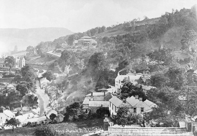 General view of Matlock Bath, from the lower parts of the 'Heights of Abraham'