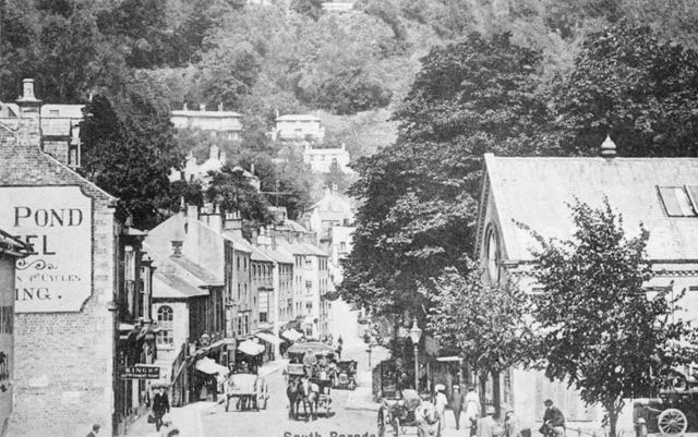 View of South Parade, Matlock Bath, showing Boden's Refreshment rooms