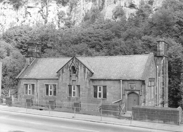The Old School, Matlock Bath and High Tor