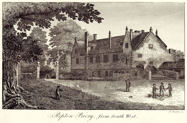 Guest House to Repton Priory (from the SW)