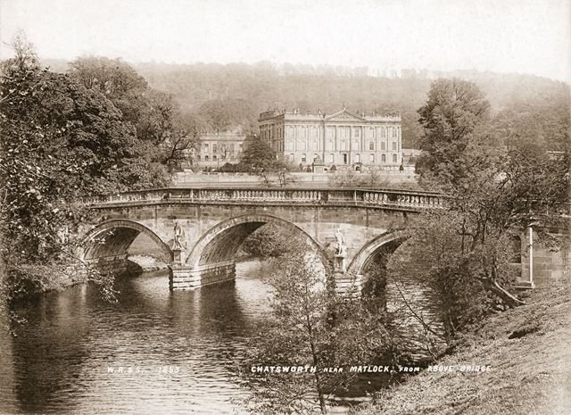 Chatsworth House seen from the bridge