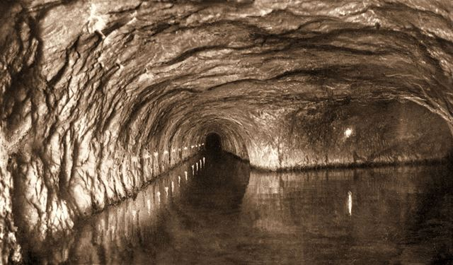 Speedwell Cavern - 'Illuminated Canal and Halfway House'