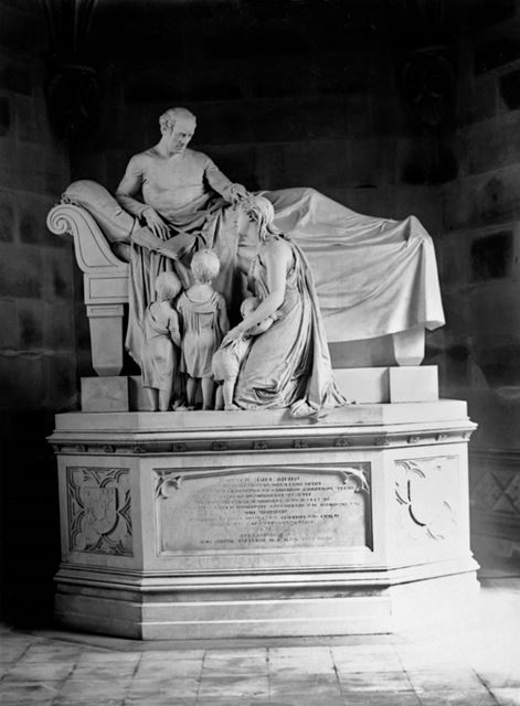 Ilam Church of the Holy Cross - Memorial statue in the mausoleum chapel dedicated to David Pike Watt