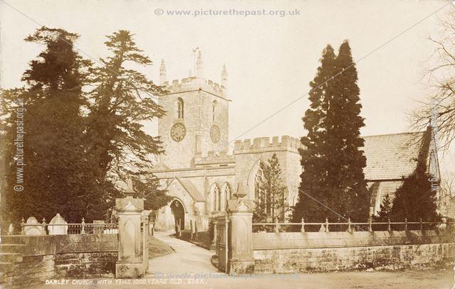 St Helen's Church, Darley Dale, c 1904