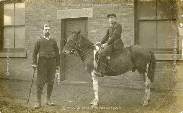 Pit pony and groom, Alfreton Hall