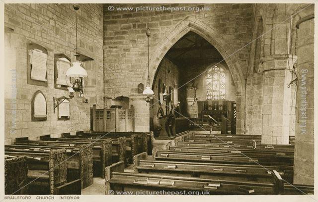 Interior, All Saints Church, Brailsford