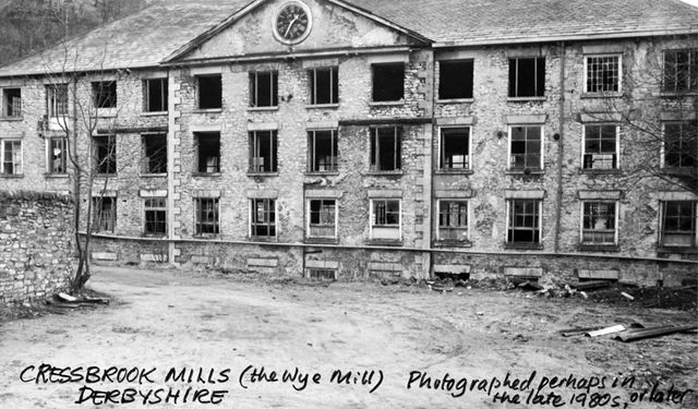 Cressbrook Mill before restoration