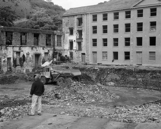 Cressbrook Mill during restoration