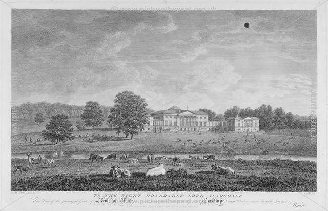 View of the principal front of Kedleston House