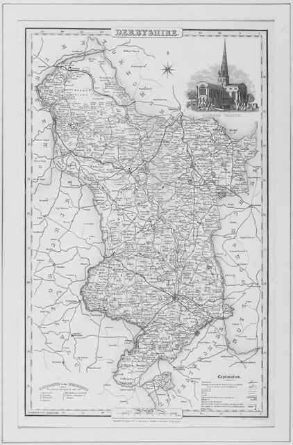 Pigot's Map of Derbyshire, 1832