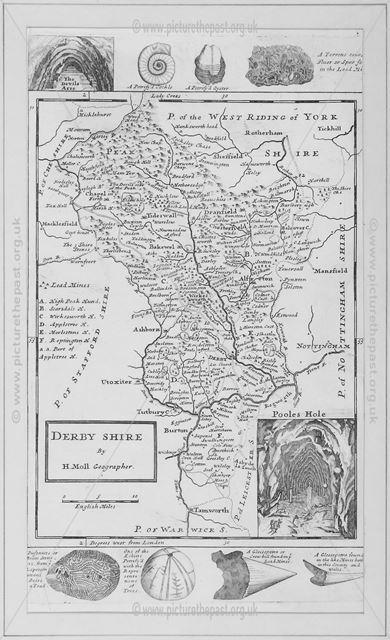 Derbyshire Map, 1724