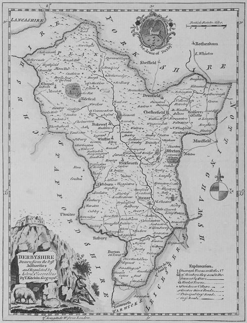 Derbyshire Map, 1764