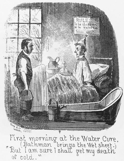 Cartoon 'First morning at the Water Cure'