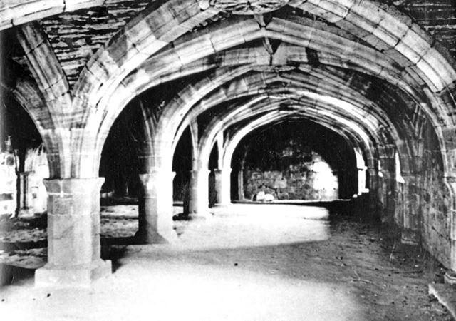 The Crypt, Wingfield Manor, South Wingfield, c 1900