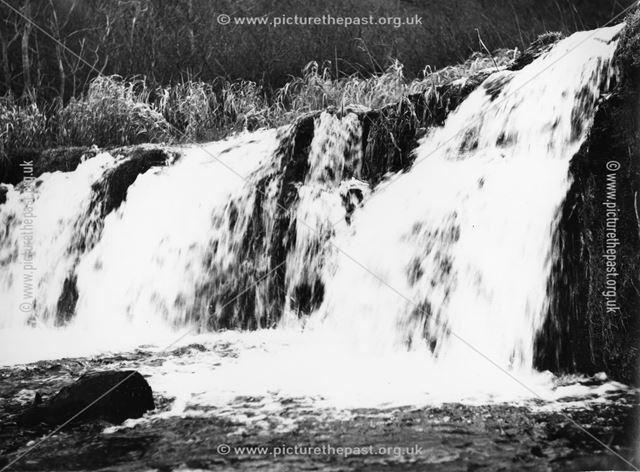 Waterfall on River Lathkill, Lathkill Drive