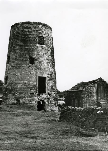 Spancarr Windmill before restoration as a dwelling house