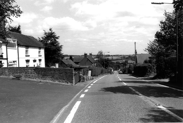 View down the Ashbourne Road at Turnditch