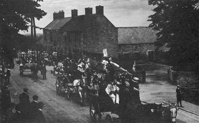 Festivities at the coronation of George V