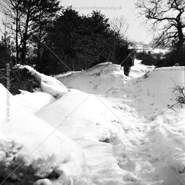 Snow Drifts at Morley 1947