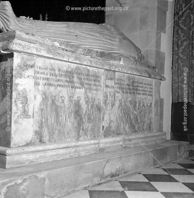 Beresford Tomb, Fenny Bentley, 1963