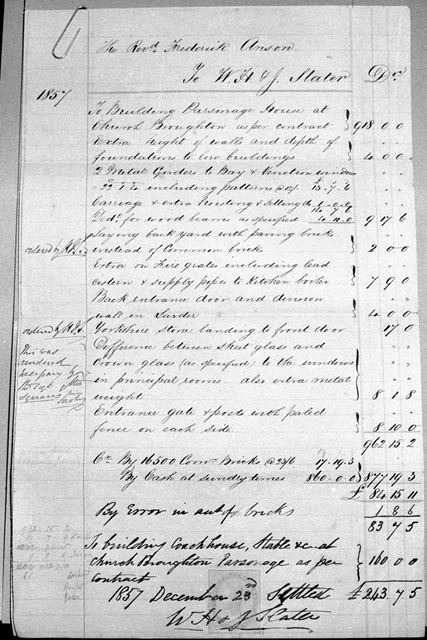 Remnants of Snelston Church Register at County Archivists