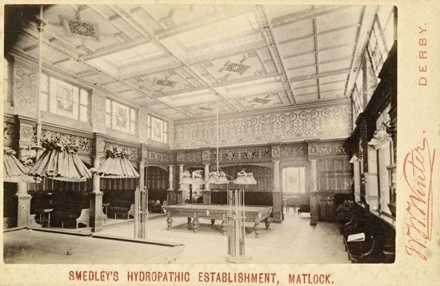 Smedley's Hydro Interior - The Billiard Room.