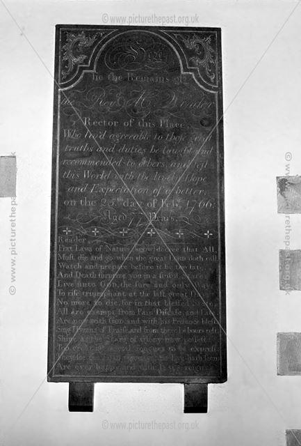 Memorial to Rev. Ween, Thorpe Church