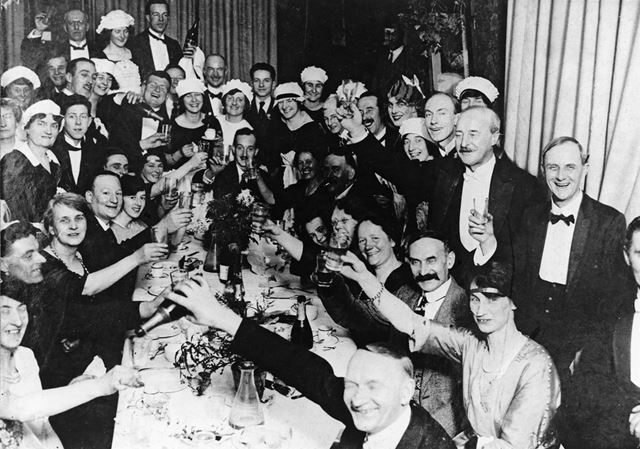Social Event at Smedley's Hydropathic Establishment, Smedley Street, Matlock, c 1920s
