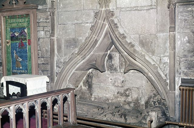 Recess and Tomb in South Wall, St. Mary's and All Saints Church, Chesterfield